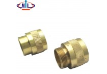 all sizes gold color brass male female pipe coupling