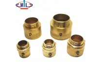 Forged Brass Male Threaded Coupling Locknut and Bushing