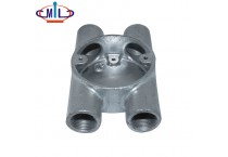 high quality BS4568 Malleable H type 4 way conduit box