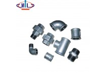 Malleable hot galvanized black pipe fittings